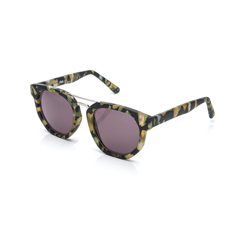 The Rubz solbriller i grøn skildpadde mønster