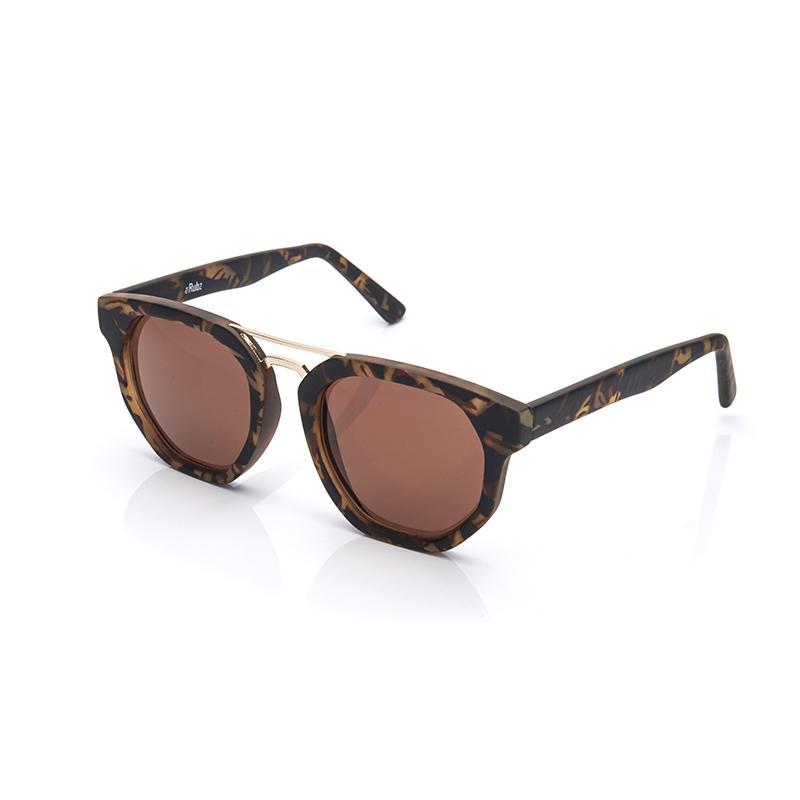 The Rubz solbriller i brun og guld