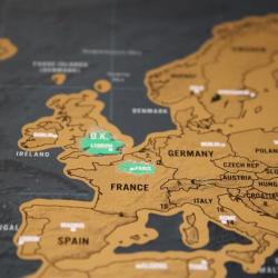 Skrabe-verdenskort, A1-plakat